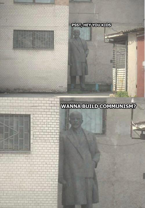 Scheming Lenin lurks around the corner Psst, hey you kids
