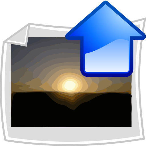 Upload icon of a sunset photograph