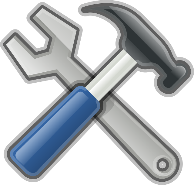 Crossed Hammer and Wrench